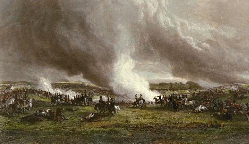 Battle of Waterloo (Restrike Etching) by George Jones