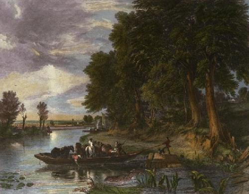 The Ferry (Restrike Etching) by Frederick Richard Lee