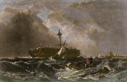 Morning After the Wreck (Restrike Etching) by William Clarkson Stanfield
