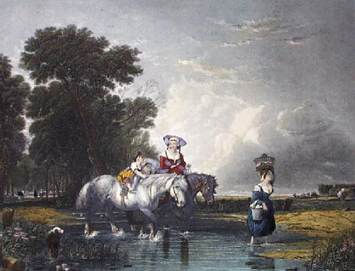 Returning From Market (Restrike Etching) by Sir Augustus Wall Callcott
