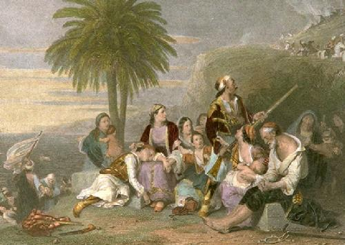 Greek Fugitives (Restrike Etching) by Sir Charles Lock Eastlake