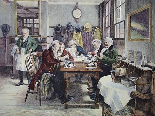 Toddy at the Cheshire Cheese (Restrike Etching) by Walter Dendy Sadler