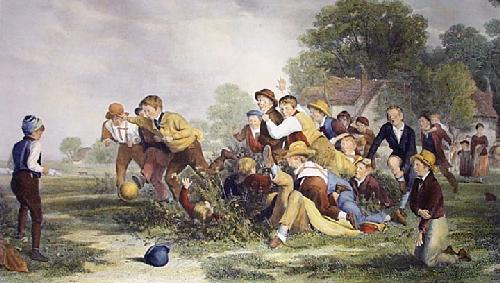 Football (Restrike Etching) by Thomas Webster