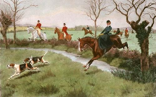 My Lady Leads (Restrike Etching) by Thomas Rowlandson