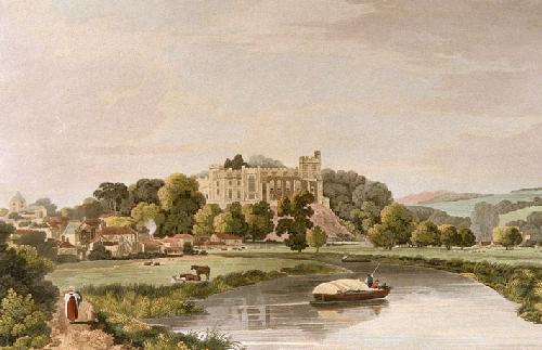 Arundel Castle (Restrike Etching) by W Scott