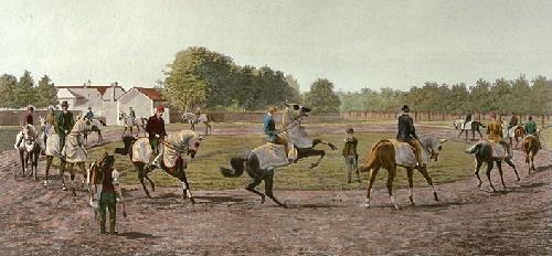 Waiting Trainer (Restrike Etching) by Harrington Bird