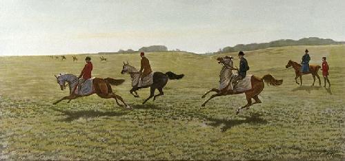 Morning Gallops (Restrike Etching) by Harrington Bird