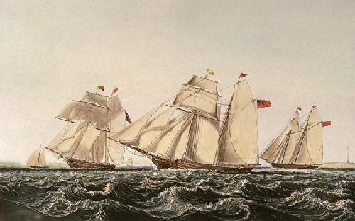 Waterford Schooners (Restrike Etching) by John Lynn