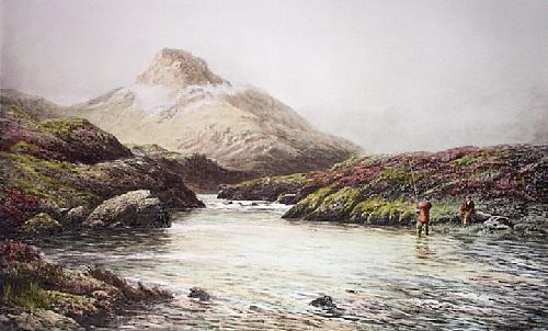Tight Line, Connemara (Restrike Etching) by Douglas Adams