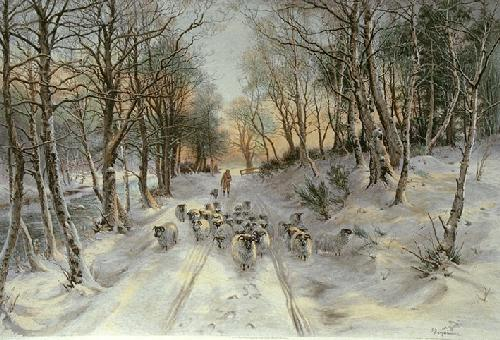 Through the Calm and Frosty Air (Restrike Etching) by Joseph Farquharson