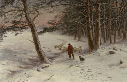 To Winter Quarters (Restrike Etching) by Joseph Farquharson