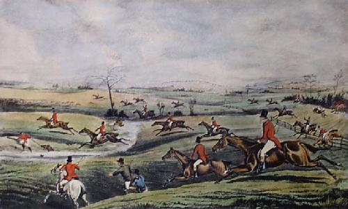 In Full Cry (Restrike Etching) by Henry Alken