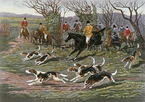 Rare Burst(Old Berkeley Hunt) (Restrike Etching) by Frank Watson