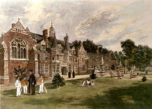 Beaumont College, St Johns (Restrike Etching) by Francis Phillip Barraud
