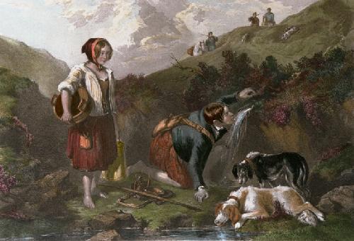 Mountain Spring (Restrike Etching) by Frederick Tayler