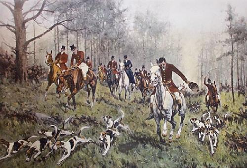 Breaking Cover (Restrike Etching) by Wright