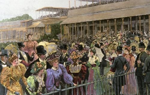 Royal Ascot Enclosure (Restrike Etching) by Arthur Hopkins