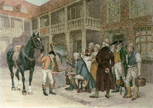 New Sign for an Old Score (Restrike Etching) by Henry Gillard Glindoni