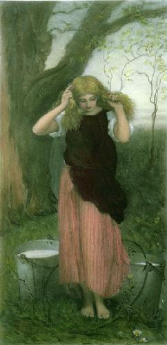 The Milkmaid (Restrike Etching) by George Mason