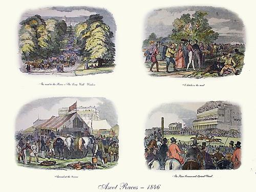 Ascot Races 1846 (4 on) (Restrike Etching) by Anonymous