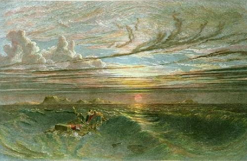 Sunset at Sea After a Storm (Restrike Etching) by Francis Danby