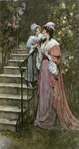 A Love Gift (Restrike Etching) by Davidson Knowles