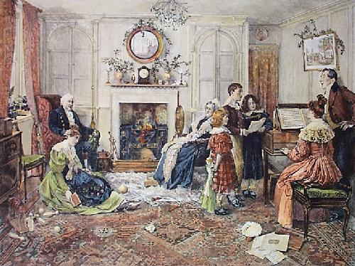 Christmas Carols (Restrike Etching) by Walter Dendy Sadler