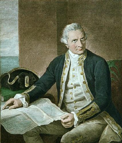 Captain Cook (Restrike Etching) by Nathaniel Dance