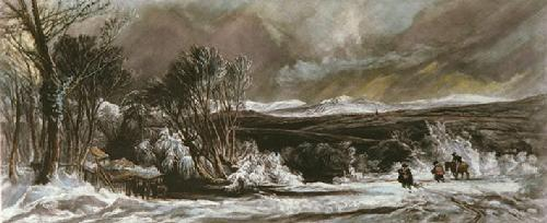 December Snow (Restrike Etching) by Copeley