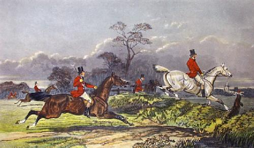 Full Cry (Restrike Etching) by John Frederick Herring
