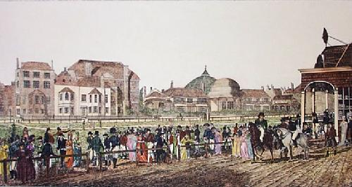 Brighton Race Course (Restrike Etching) by John Frederick Herring