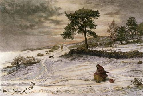 Blow, Blow Thou Winter Wind (Restrike Etching) by Sir John Everett Millais