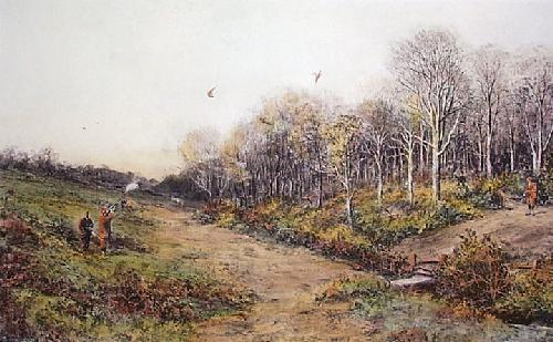 Pheasant Shooting (Restrike Etching) by Douglas Adams