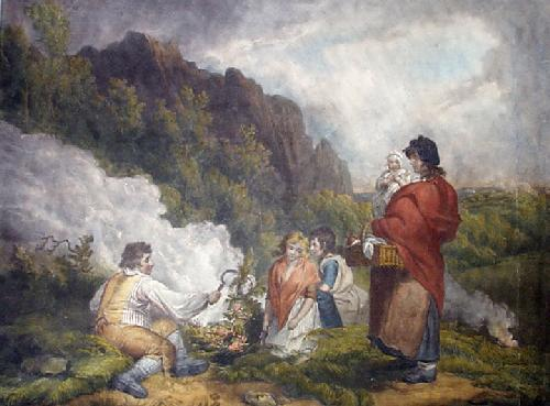 The Ferngatherers (Restrike Etching) by George Morland