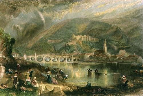 Town and Castle of Heidelburg (Restrike Etching) by Joseph Mallord William Turner