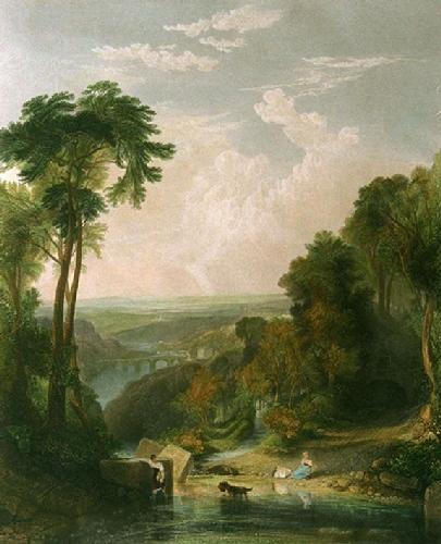 Crossing the Brook (Restrike Etching) by Joseph Mallord William Turner