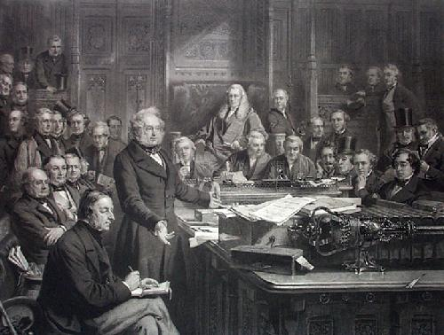 House of Commons (Restrike Etching) by John Phillip