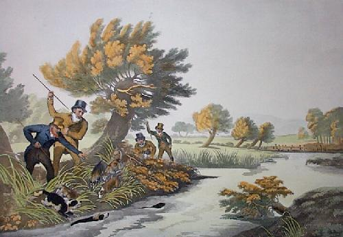 Otter Hunting (Restrike Etching) by Philip Reinagle
