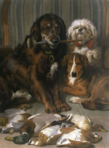 Well Bred Sitters (Restrike Etching) by Sir Edwin Henry Landseer