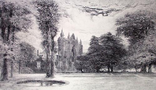 Abbey Ruins (Restrike Etching) by Anonymous