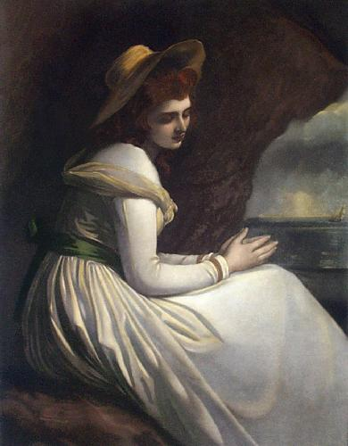 Lady Hamilton as Ariadne (Restrike Etching) by George Romney