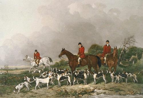 Old Berkshire Hunt (Restrike Etching) by Mervyn Goode