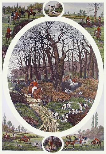 Day with the Foxhounds (Restrike Etching) by William Henry Tuck