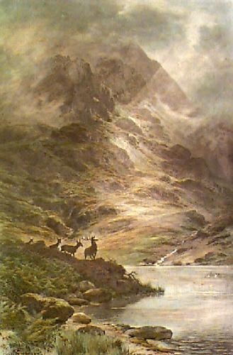 Land of Rocks & Heather (Restrike Etching) by Charles Stuart