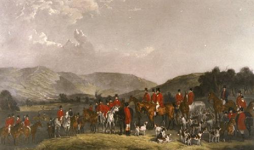 Wynnstay Hunt (Restrike Etching) by Henry Calvert