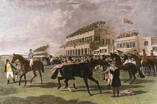 Ascot Grandstand (large) (Restrike Etching) by John Frederick Herring