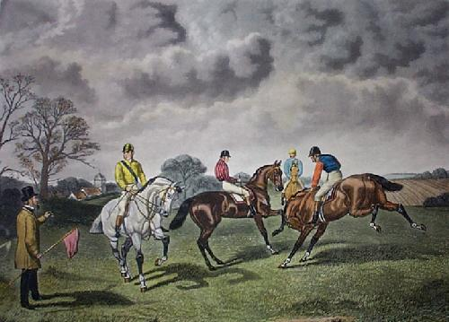 Restive at the Post (Restrike Etching) by Sturgess