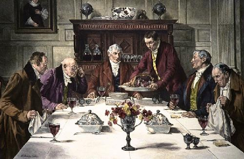 Roast Beef of Old England (Restrike Etching) by Walter Dendy Sadler