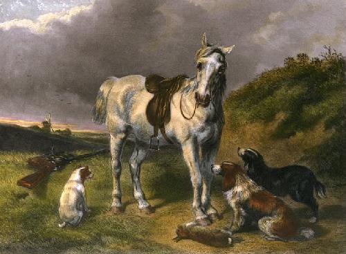 Shooting Pony (Restrike Etching) by John Frederick Herring