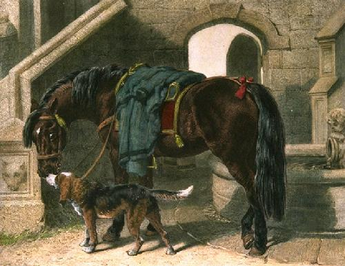 Baron's Charger (Restrike Etching) by John Frederick Herring